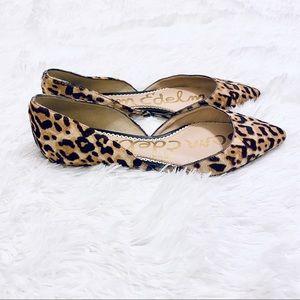 Sam Edelman Shoes - Sam Edelman Rodney Leopard Print Calf Hair Flats 8